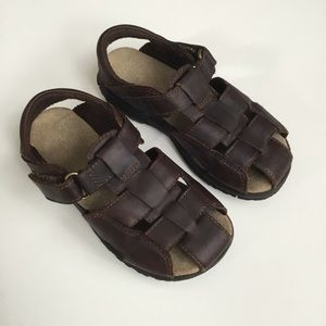 Leather Sandals Angler Fisherman 9.5W Stride Rite